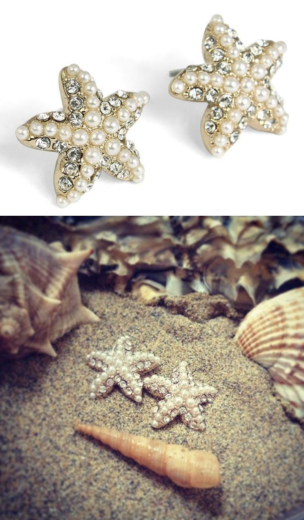Pearly Starfish Earrings...oh my goodness!:) I am infatuated with the earrings! AHHH! Want them! lol