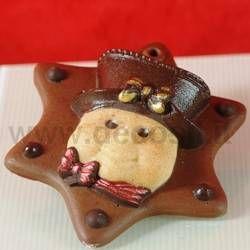 Snowman Christmas Chocolate Moulds www.decosil.eu - Stampi per decorazioni di Natale in cioccolato www.decosil.it