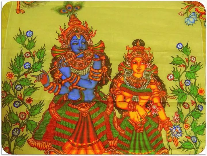 1000 images about kerala mural art on pinterest hindus for Asha mural painting