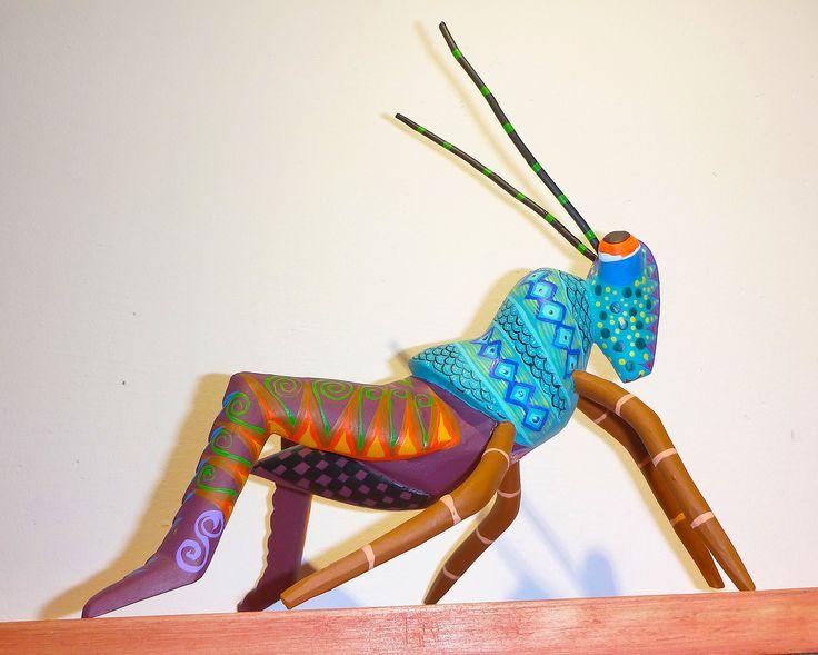 Large Grasshopper Alebrije.