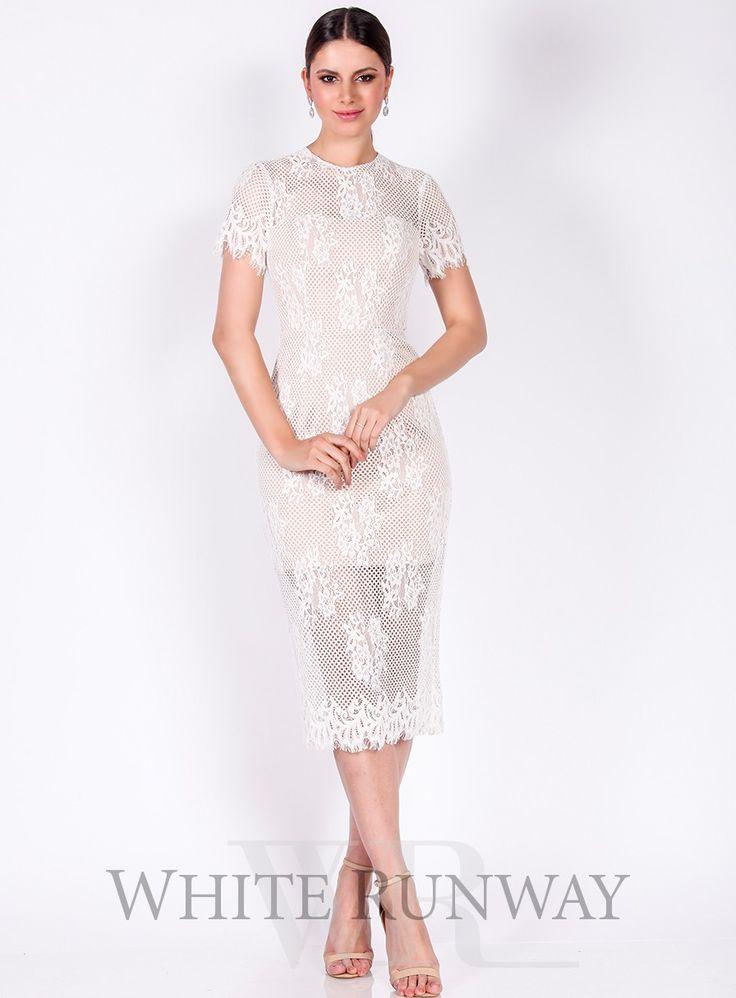 love honor lace dress, white lace dress