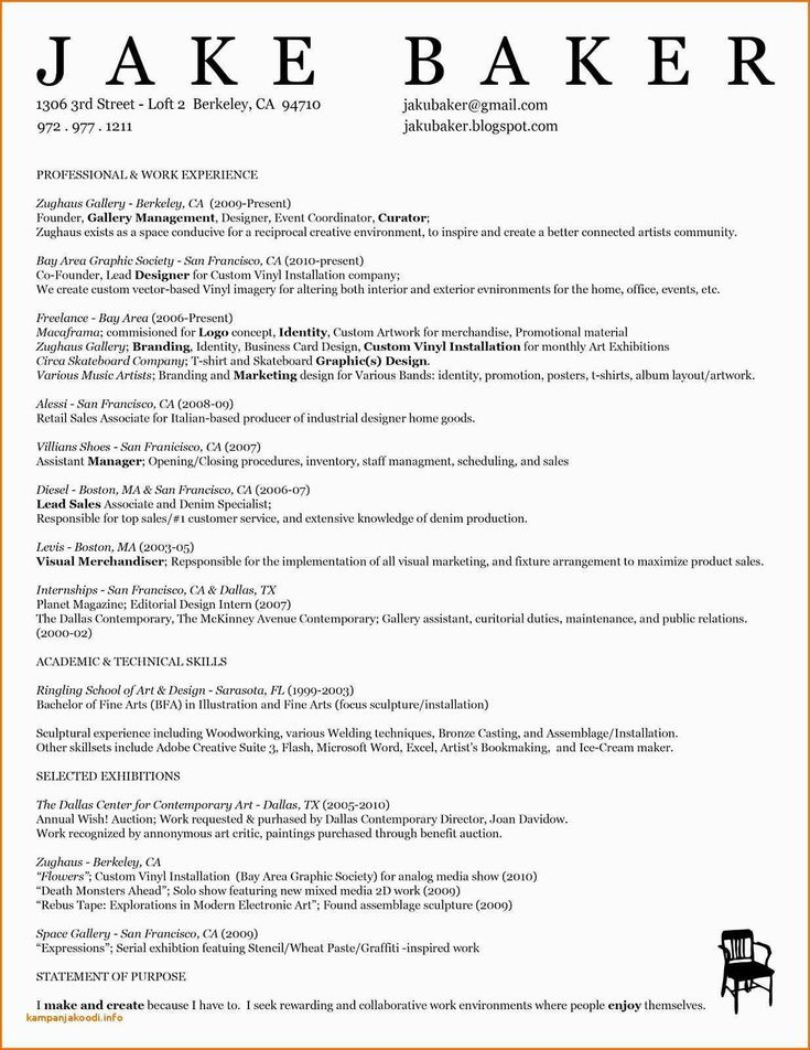 resume template for freshers Best in 2020 Resume