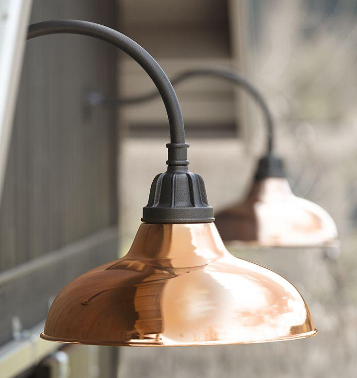 carson gooseneck copper light - Farmhouse Light Fixtures
