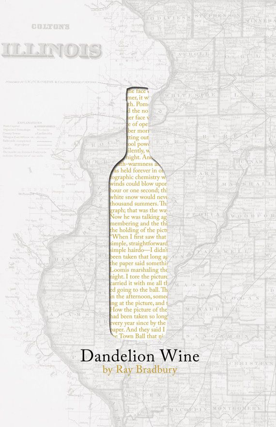 Dandelion Wine Poster Print by bookrapport on Etsy
