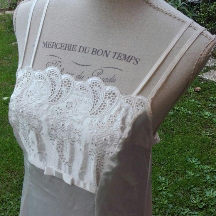 Camicia da notte shabby chic vintage bianca wedding sposa woman chic nightgown woman Bride