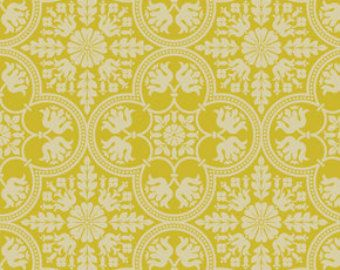 Historic Tile in Citron from Notting Hill by Joel Dewberry -  1/2 Yard Cut