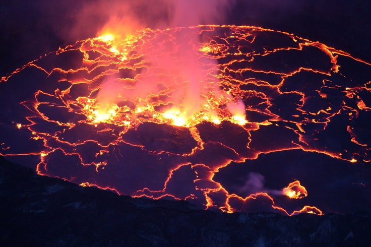 Mt Nyiragongo... we spent the night on the rim of an active volcano:)