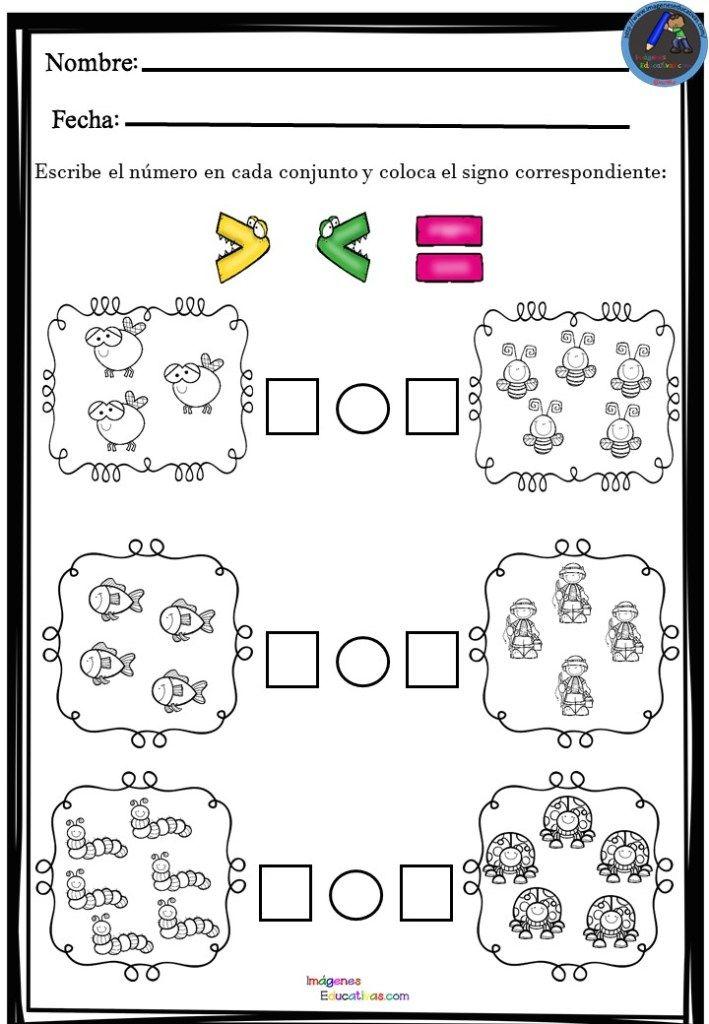 Fichas Matemáticas Usamos Los Signos Mas O Menos Fichas Matematicas Actividades De Matematicas