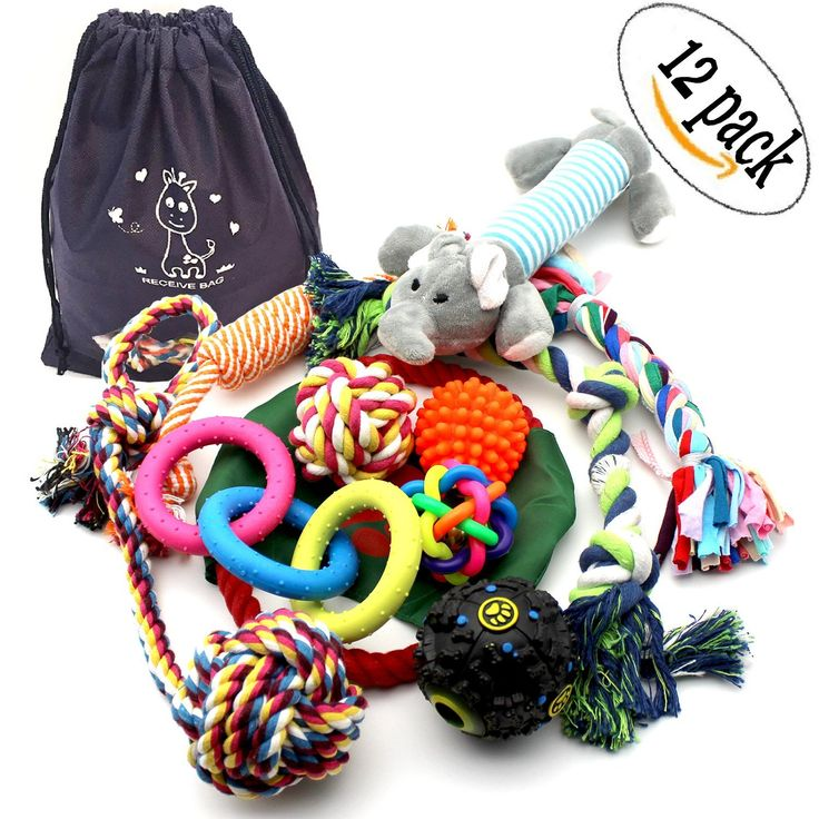 Dog chew toys rope pet toy with ball for small to medium