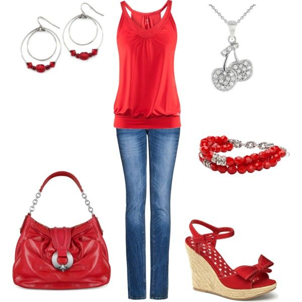 Cherry Red: Cherries Red, Wear Red, Fashionista Central, Clothing Shoes Accessories, Style, Fashion Taste, Bright Red, Dreams Wardrobes, Red Hot