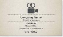 wedding videographer Standard Business Cards