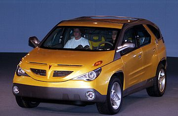 The original Pontiac Aztek concept car. A hit on the show circuit, it was a stylish SUV that anyone would want to drive, even today. When they decided to build it, however, the show car was delivered unto the cost accountants and the results spoke for themselves.