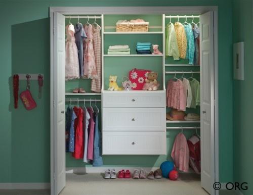Nursery Closet: Small Closet, For Kids, Closet Design, Kids Closet, Closet Organizations, Closet Ideas, Organizations Closet, Girls Rooms, Kids Rooms