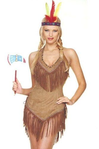 Not only is this not a real costume, it's disrespectful as all fuck. NO. BAD. Sacajawea Indian Maiden Adult Costume