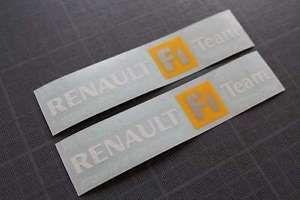 "Autocollants Stickers ""Renault F1 Team"" Clio Sport Megane RS R25 R26 172 182 200 