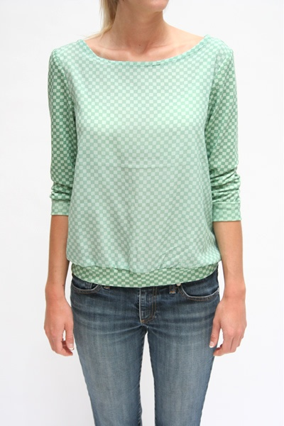 I love this top. It is WAY out of my price range!!  Lina Rennell Sweatshirt Blouse $240