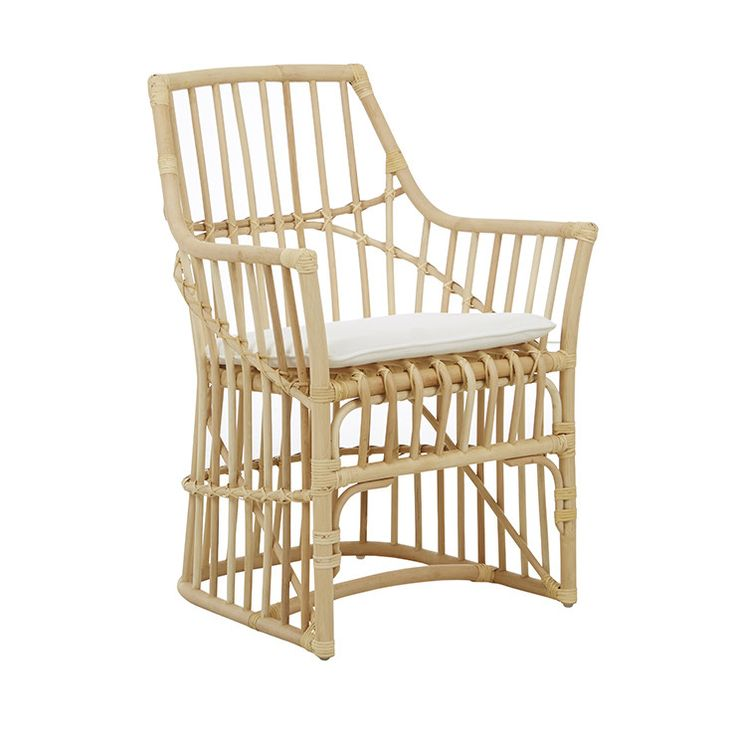 GlobeWest - Plantation diego dining chair in natural rattan