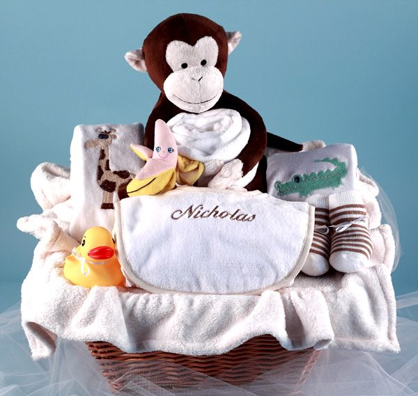30 best personalized baby gifts images on pinterest baby gift you wont go wrong choosing this unique baby gift basket to welcome the new negle Image collections