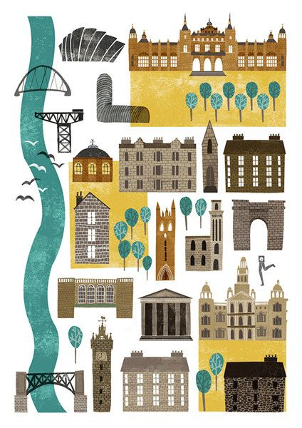 Hey, I found this really awesome Etsy listing at https://www.etsy.com/listing/211502544/glasgow-map-a4-art-print