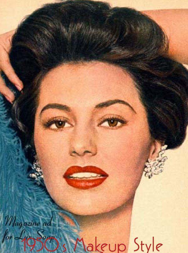 les 35 meilleures images du tableau maquillages ann es 50 sur pinterest beaut vintage. Black Bedroom Furniture Sets. Home Design Ideas