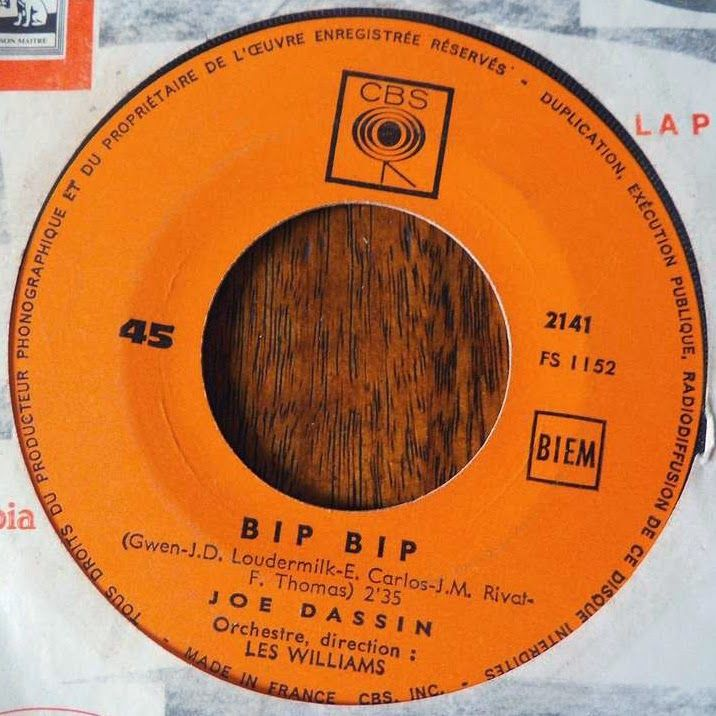 Blue Country - La Discographie de Joe Dassin: 45 RPM - CBS SP 2141 - 1965 - Bip bip/Guantanamera...