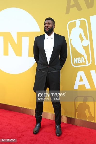 News Photo : Festus Ezeli arrives at the red carpet at the NBA...