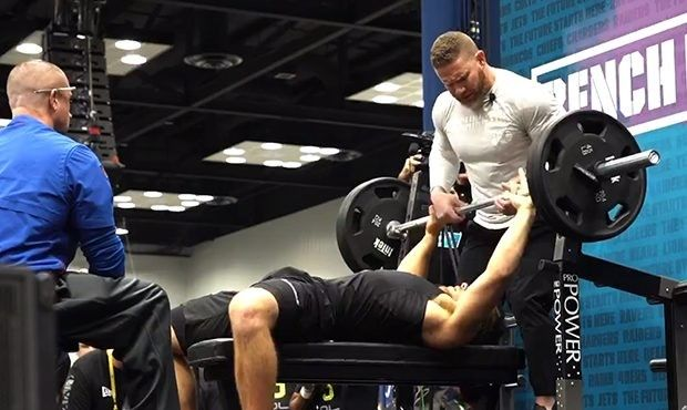 Punter Does 25 Bench Press Reps At The Combine In 2020 Bench Press Patriot League Nfl Draft