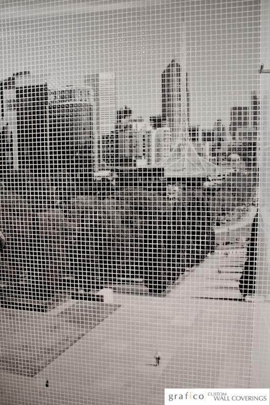 Mosaico Digitale - Melbourne Skyline Shower Feature