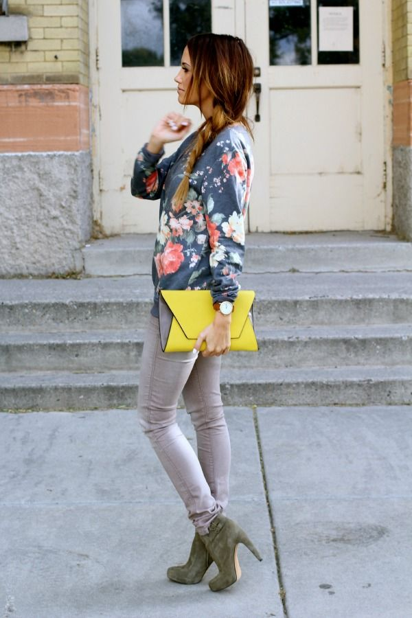 Floral & Yellow/Hunter Green Outfit