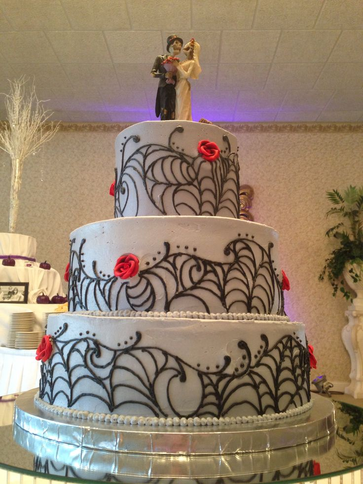 15 Best Halloween Wedding Cakes Images On Pinterest Day