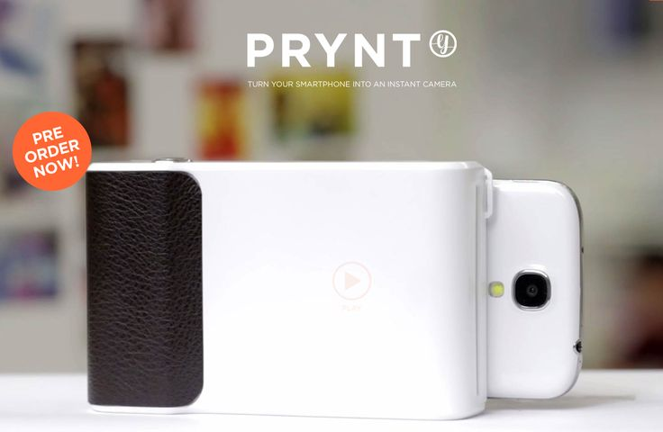 Prynt is the first ever photo-printing phone case. Just slide in your phone, snap a picture, and print instantly. Over $1.5 million raised on Kickstarter.