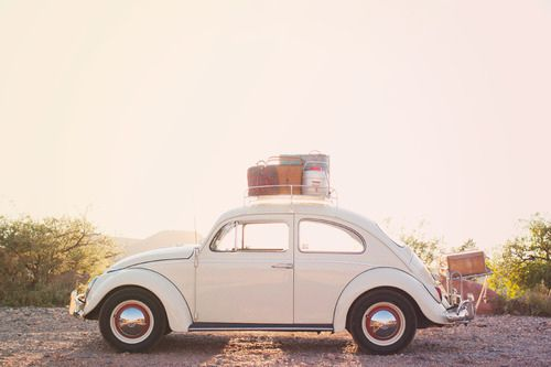 love bug/roof rack #roadtrip.  If you have one of these, and a few cute dresses, maybe a surf board...call me.  I want to photograph you.  :)  Love.