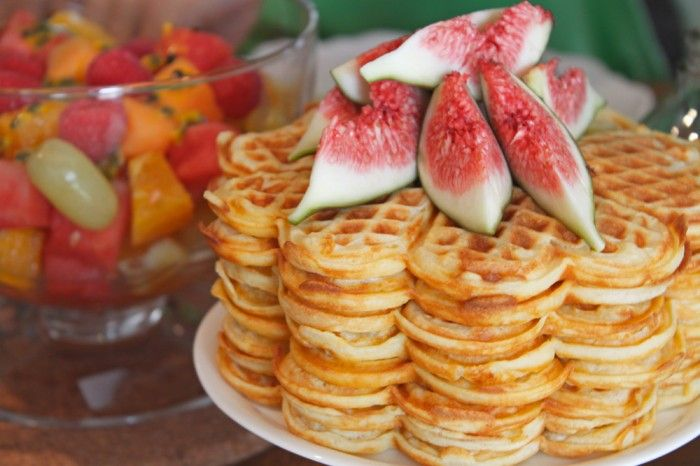 Ricotta Waffles with Figs