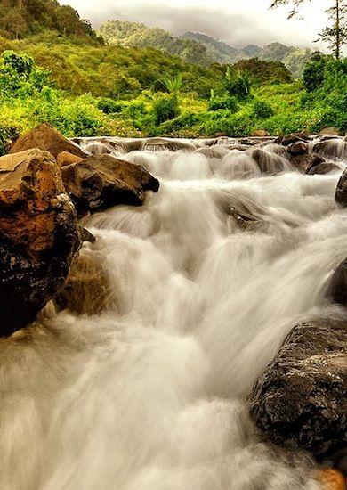 Tancak waterfall  at Jember - East Java - Indonesia