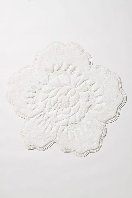 Castile Rose Bathmat - anthropologie.com