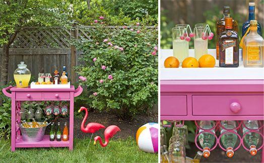 Alfresco bar cart - perfect for parties