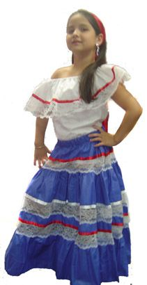 Traditional Puerto Rican folklore costume