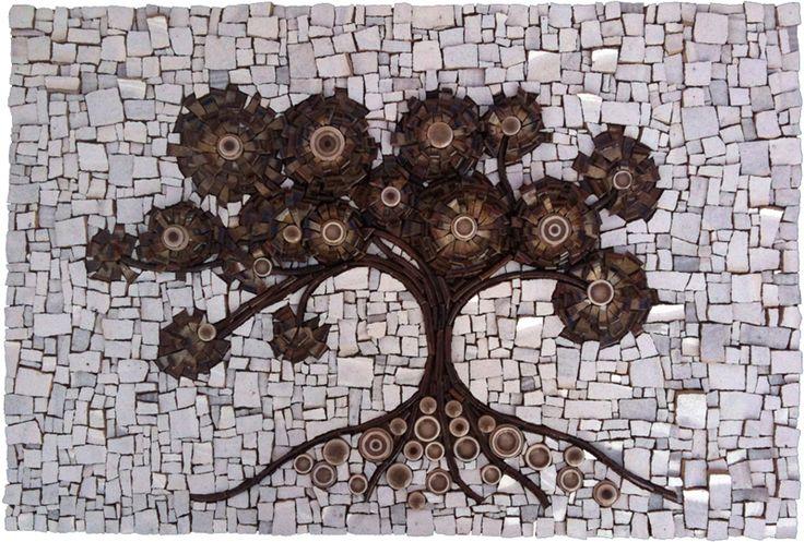 Bodhi Tree Mosaic by Dyanne Williams http://www.dyannewilliamsmosaics.com/BodhiTree/bodhitree.html