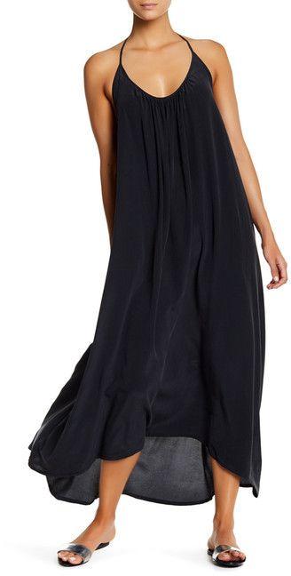 Mikoh Hamptons Hi-Lo Silk Maxi Dress