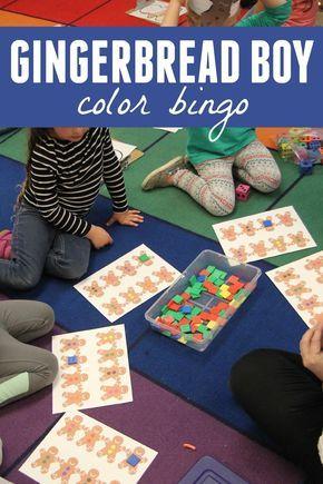 Toddler Approved!: Gingerbread Boy Color Bingo Game