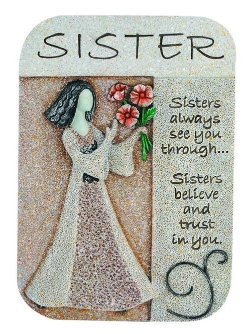 Sister Artstone Plaque