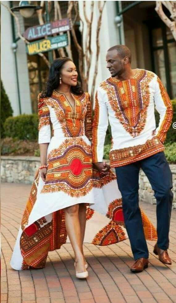 His and her African print Style