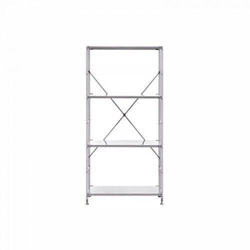 SUS Stainless Shelving Unit Gray M W58xL41xH120cm