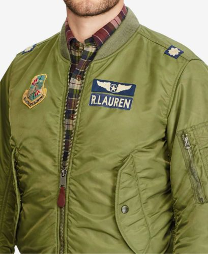 63a79af0871 Polo-Ralph-Lauren-Men-MA-1-Military-Army-US-Air-Force-Flight-Bomber-Pilot- Jacket