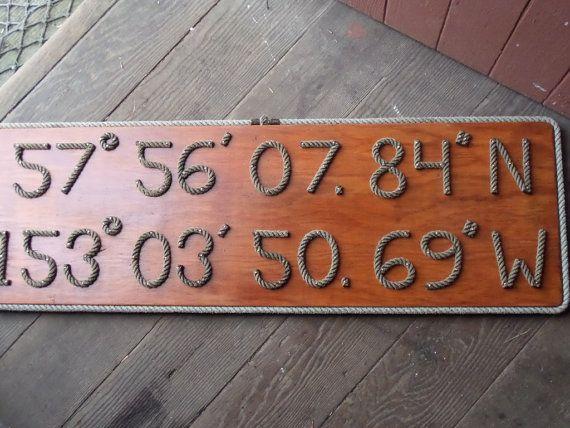 Personalize your Latitude & Longitude Sign by AlaskaRugCompany, $80.00