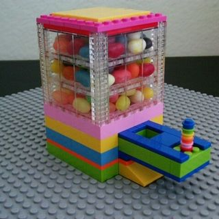 Lego Candy Dispenser. I see a daddy daughter project in the near future! :)