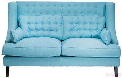 Sofa Vegas Light Blue 2 Seater Kare Design Light Blue