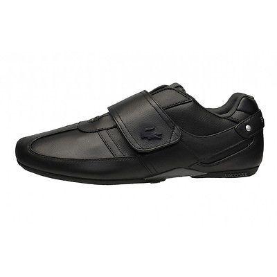 3e8eff03d84e41 Lacoste Protected Prm Mens 7-30SPM0045-02H Black Velcro Strap Shoes Size 13
