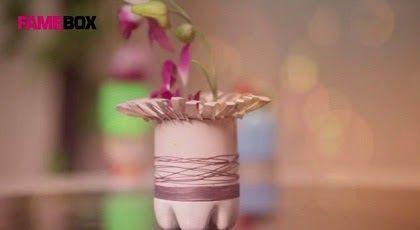 Kerajinan Tangan Vas Bunga Cantik Dari Botol Bekas
