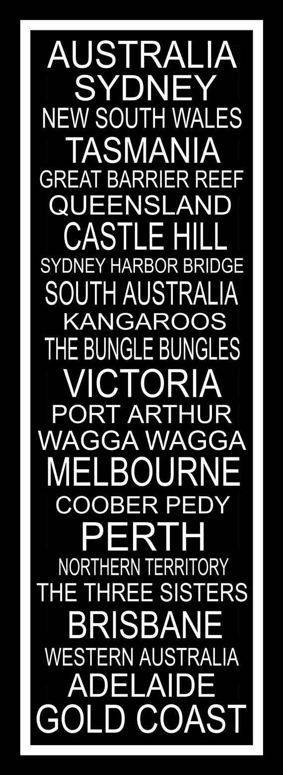 Australian cities have the best names.